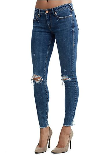 Halle Double Destroy Womens Jean | Marbled Earth | Size 24 | True Religion