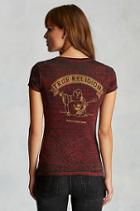 True Religion Buddha Burnout Womens Tee - Red