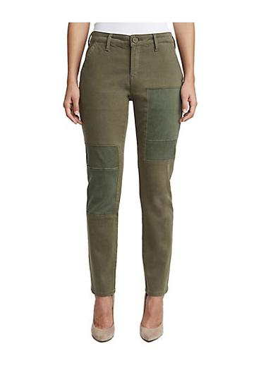 Womens Patch Utility Chino Pant | Dark Green | Size 25 | True Religion