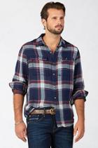 True Religion Flannel Workwear Mens Shirt - Burgundy