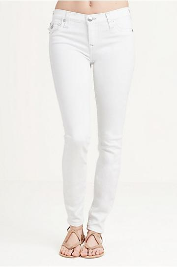 True Religion Super Skinny White Womens Jean - Optic White