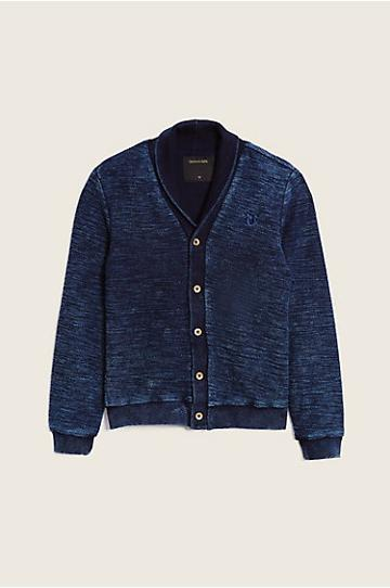 True Religion Indigo Knit Kids Cardigan - Indigo