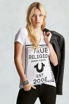 True Religion Classy True Womens T-shirt - White