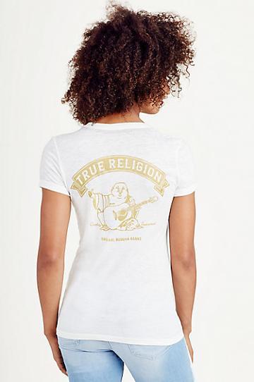 True Religion Vintage Buddha Womens Tee - White