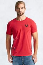 True Religion Crafted With Pride Painted Mens Tee - Red