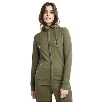 Womens Slim Zip Up Hoodie | Military Green | Size X Small | True Religion