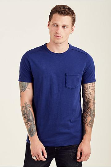 Pocket Mens Tee | French Blue | Size Small | True Religion