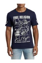 Men's Buddha Crew Neck Tee | Navy | Size Small | True Religion
