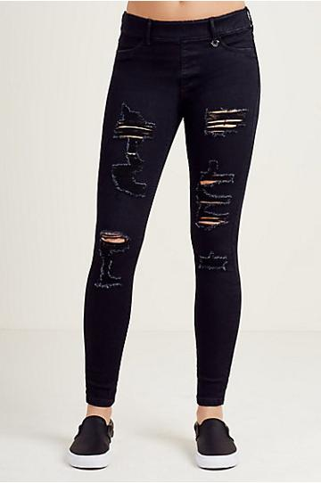 True Religion The Runway Legging - Black Rinse