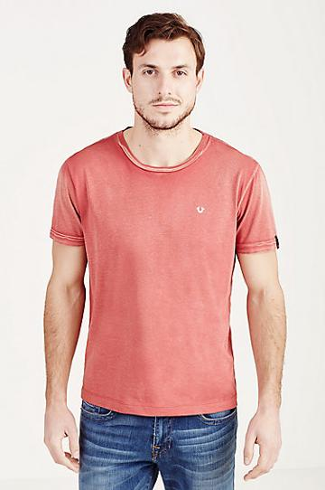 True Religion Crew Neck Mens Tee - Red