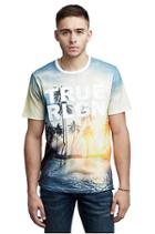 Men's Sunset True Religion Tee | White | Size X Small
