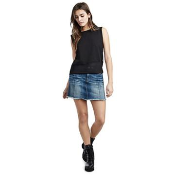 Womens Denim Mini Skirt | Seasoned Blue | Size Small | True Religion