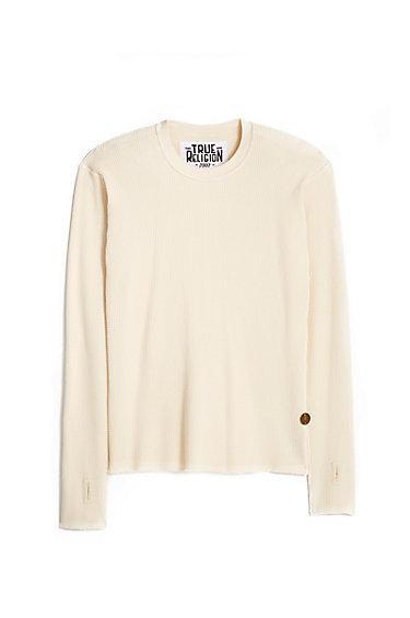 Unisex Longsleeve Thermal Shirt | White | Size 2 | True Religion