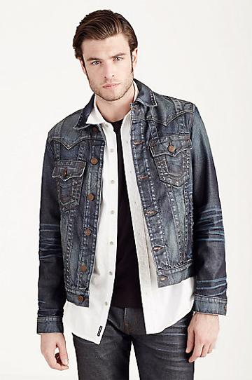 True Religion Jimmy Mens Jacket - Worn Ranch