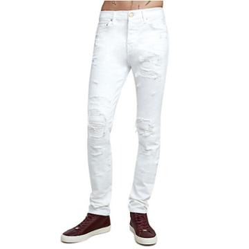 Rocco Destroyed Skinny Mens Jean | Optic White | Size 32 | True Religion