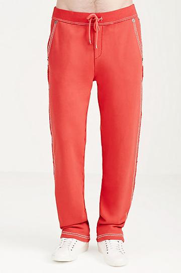 True Religion Big T Stitch Mens Sweatpants - True Red