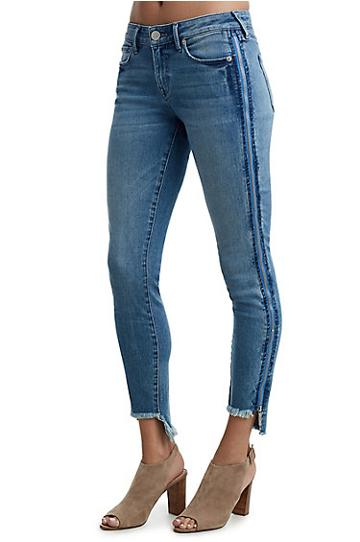 Halle Mid Rise Super Skinny Womens Jean | Blue Electricity | Size 24 | True Religion