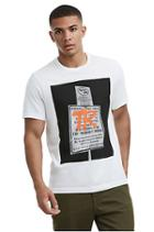 Mens Tagged Sign Tee | White | Size X Small | True Religion