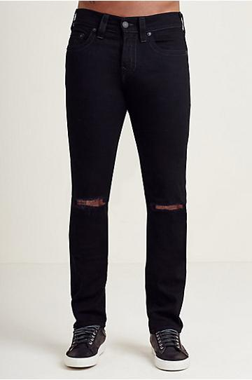 True Religion Rocco Skinny Mens Black Jean - Deep Basin