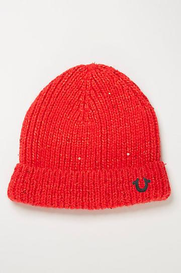 True Religion Cashmere Blend Sequin Watchcap - True Red