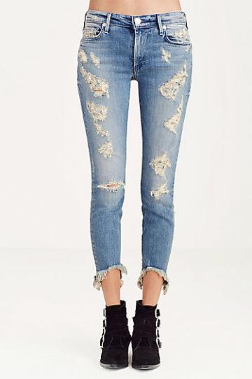 True Religion Halle Super Skinny Cropped Womens Jean