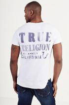 True Religion Printed Mens Vneck Tee - White