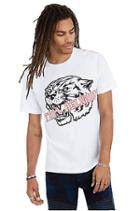 Grip Tiger Crew Neck Mens Tee | White | Size Small | True Religion