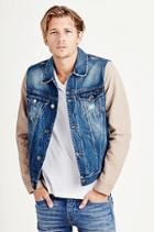 True Religion Jimmy 2tone Mens Denim Jacket - Super Blasted