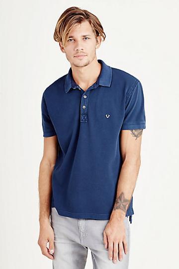 True Religion Big T Mens Polo Shirt - True Navy