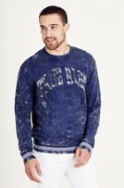 True Religion Logo Crew Neck Mens Sweatshirt - True Navy