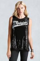 True Religion True Sequin Womens Tank - Black