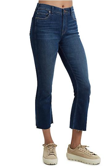 Becca High Rise Bootcut Womens Jean | Midnight Destroy | Size 23 | True Religion