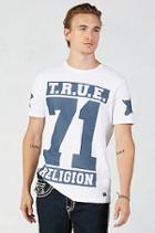 True Religion True 71 Stars Print Mens T-shirt - White