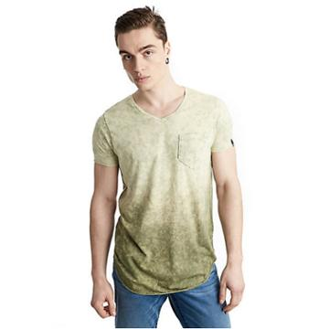 Mens Ombre Acid Wash Pocket Tee | Military Green | Size Small | True Religion