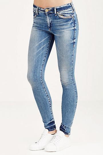 True Religion Halle Super Skinny Womens Jean - Gypset Blue