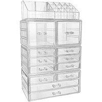 Sorbus Cosmetic Makeup & Jewelry Storage Case Tower Organizer