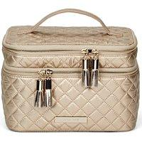 Tartan + Twine Gold Quilted Double Train Case