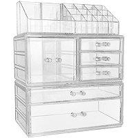 Sorbus Large Cosmetic Makeup And Jewelry Storage Case Display