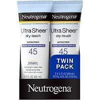 Neutrogena Ultra Sheer Spf 45 Twin Pack (packaging May Vary)