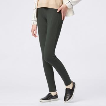 Uniqlo Women Leggings Pants In Dark Green