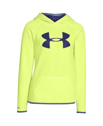 Under Armour Girls' Ua Armour Fleece Big Logo Hoodie