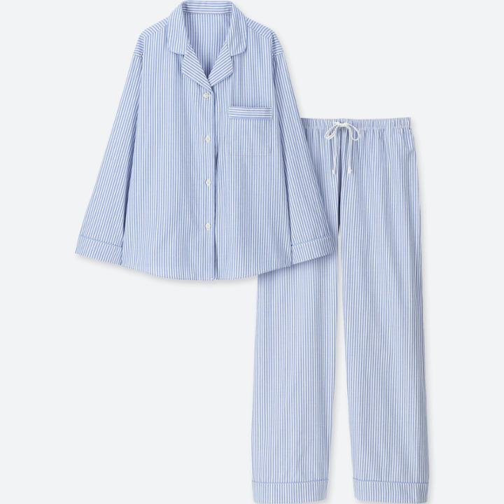 Women Cotton Long-sleeve Pajamas