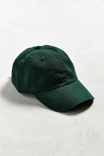 Urban Outfitters Uo Curved Brim Baseball Hat,dark Green,one Size
