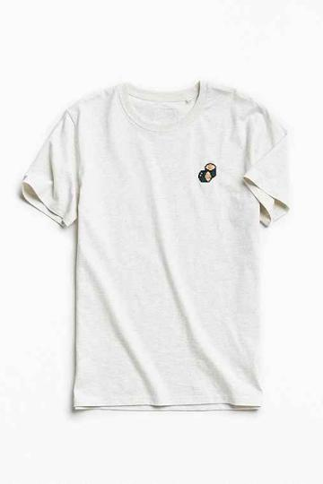 Urban Outfitters Bricktown World Embroidered Sushi Tee,cream,s