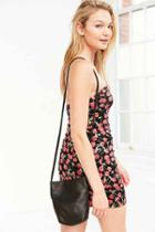 Urban Outfitters Baggu Leather Crossbody Bag,black,one Size