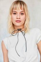 Urban Outfitters Lex Chain Tie Choker Necklace,gold,one Size