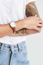 Urban Outfitters Classic Leather Watch,brown,one Size