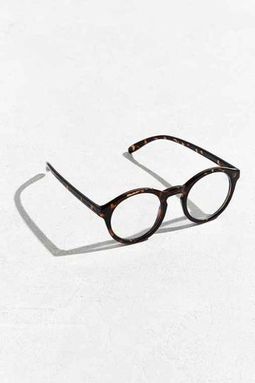 Urban Outfitters Uo Plastic Round Readers,brown,one Size
