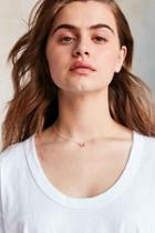 Urban Outfitters Audrey Icon Short Necklace,gold,one Size