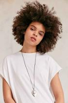 Urban Outfitters Laurel Boho Pendant Necklace,silver,one Size